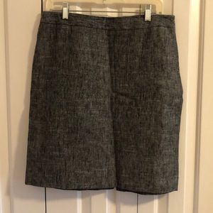 3/$15 Nine west 10 petite linen cotton skirt only